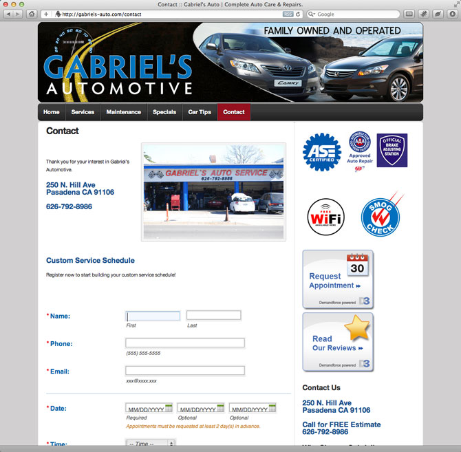 website Auto Care and Repairs
