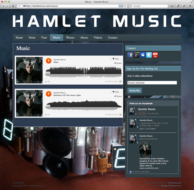 website design music