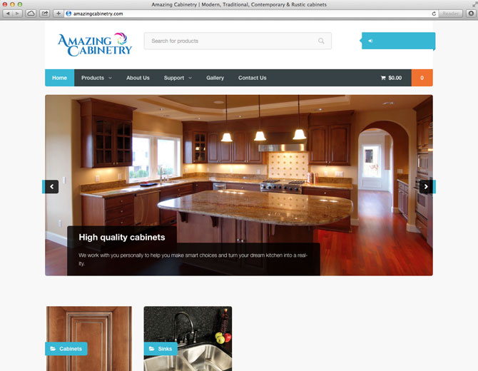 Amazing Cabinetry website design